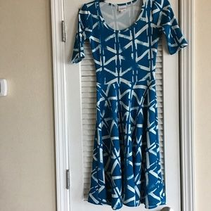 Women's LuLaroe Blue Dress Nicole - SZ XXS